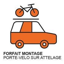 Montage porte vélo