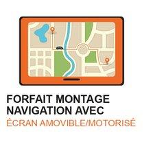 POSE NAVIGATION  ÉCRAN AMOVIBLE / MOTORISE