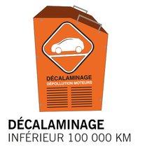Décalaminage inférieur à 100 000 km