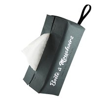 ETUI BOÎTE MOUCHOIRS POLYESTER GRIS