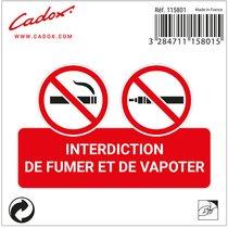 293082 cadox adhesif defense fumer vapoter