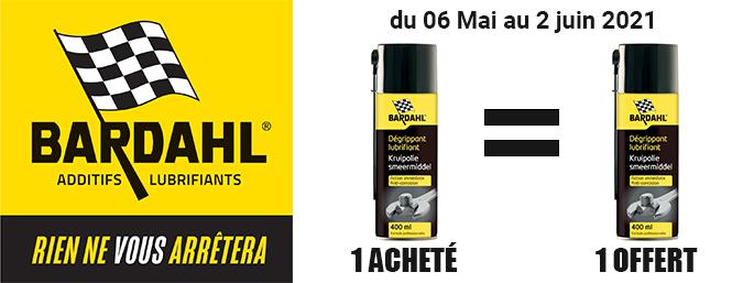 Offre défraissant lubriffiant Bardahl 400ml