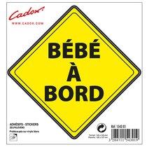 """ADHESIF-LOSANGE-JAUNE-""""BEBE-A-BORD""""-154301-CADOX-256536"""