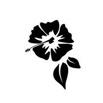 Autocollant-transférable-hibiscus-Cadox-61879