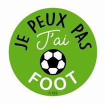 """STICKER-""""JE-PEUX-PAS-J'AI-FOOT""""-157802-CADOX-296247"""